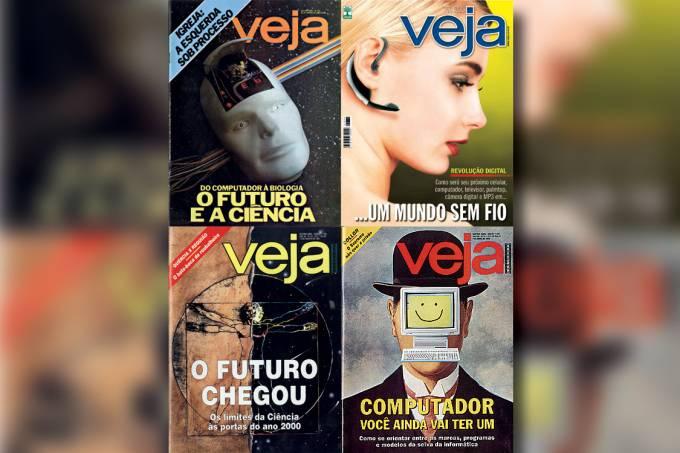 CAPAS DE VEJA – Ao longo de quase meio século de vida, a revista nunca se desviou da tarefa de revelar o momento em que as previsões abandonam o campo das apostas e das impressões para ganhar contornos de realidade