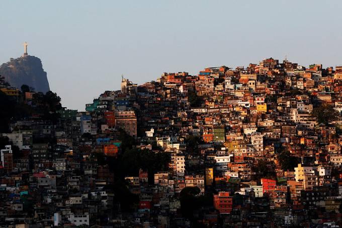 Vista da favela da Rocinha