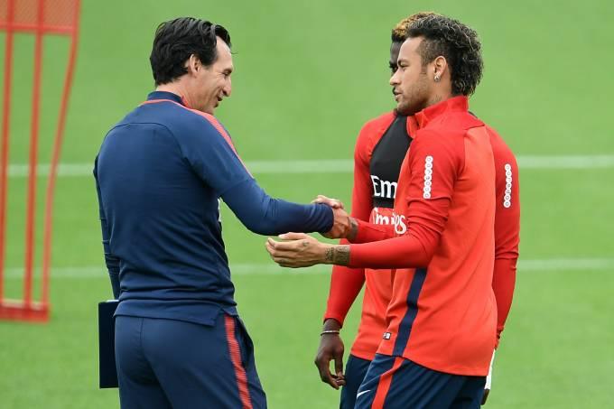 Neymar e Unai Emery