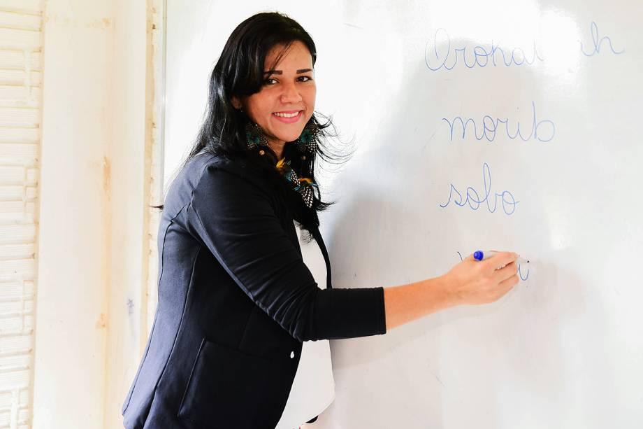 Elisângela Dell-Armelina Suruí, finalista do Prêmio Educador Nota 10