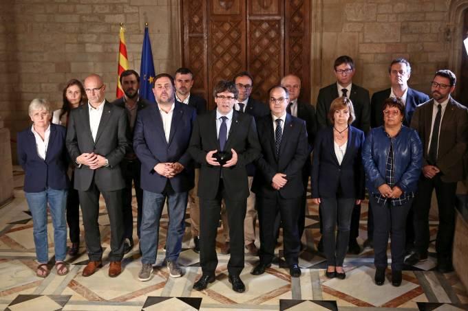 Carles Puigdemont dá declaração em Barcelona