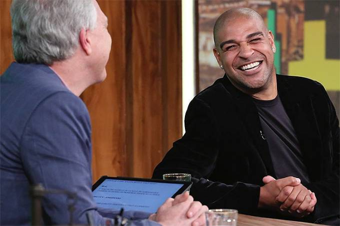 Adriano em conversa com Biall