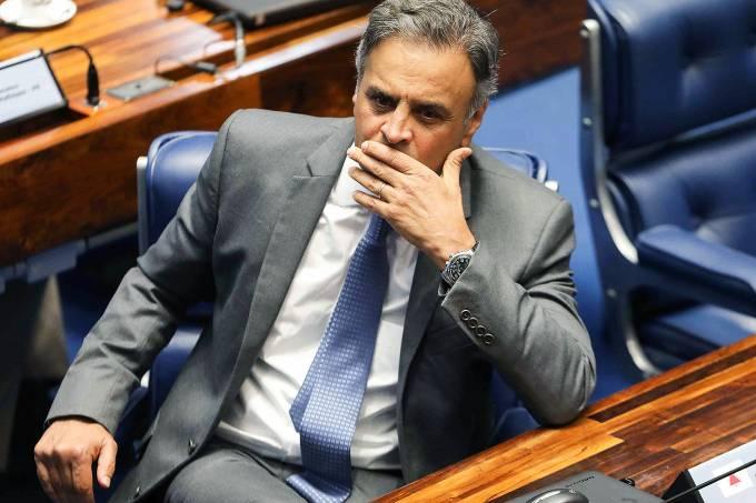 O senador Aécio Neves