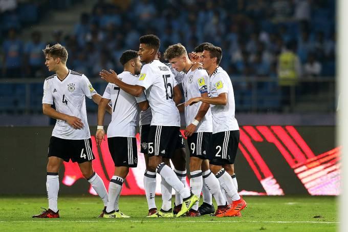 O jogador Jann-Fiete Arp da seleção sub-17 da Alemanha – 16/10/2017