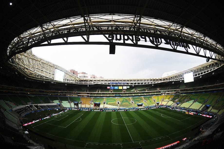 Allianz Parque antes da partida entre Brasil e Chile, válida pelas Eliminatórias da Copa da Rússia, em São Paulo - 10/10/2017