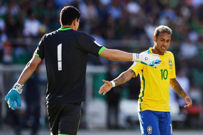 O jogador Neymar