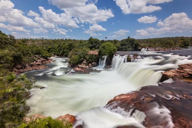 Cachoeira Velha no Parque Estadual do Jalapão, no Tocantins