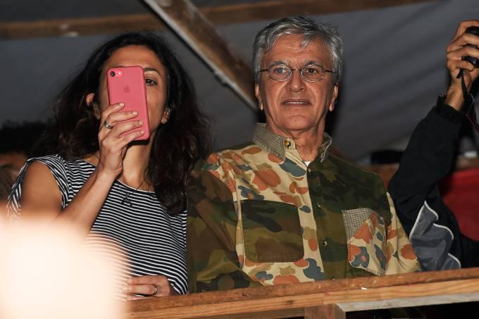 Caetano Veloso no acampamento do MTST, em São Bernardo
