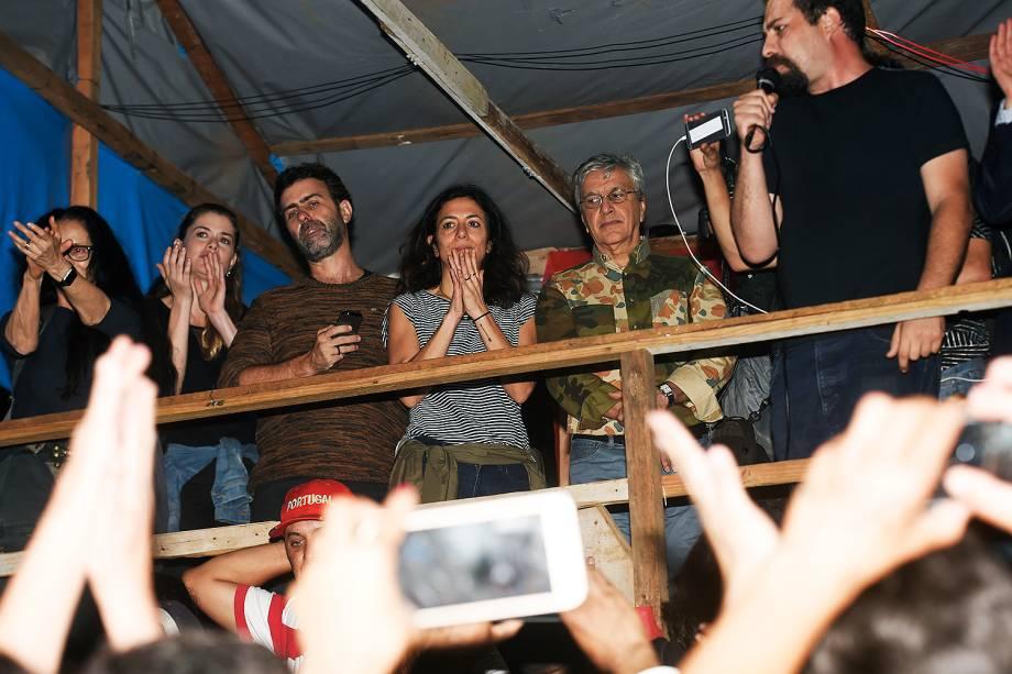 Caetano Veloso no acampamento do MTST, em São Bernardo  - 30/10/2017