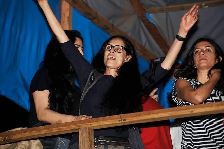 Sonia Braga, no acampamento do MTST, em São Bernardo do Campo - 30/10/2017
