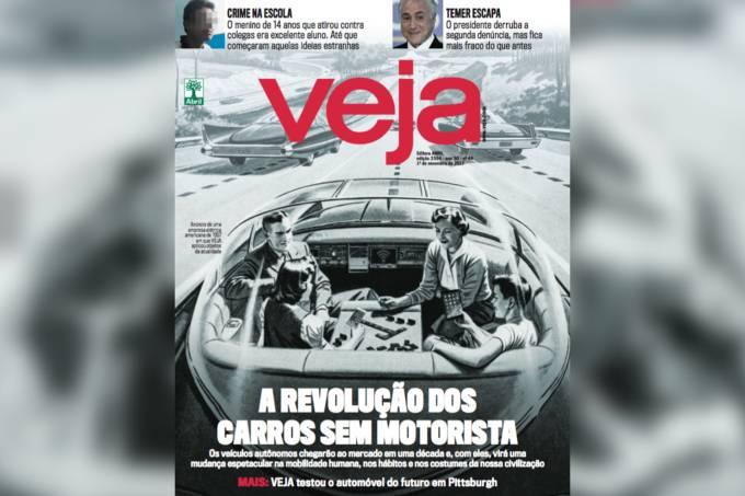 Capa de Veja: 'A revolução dos carros sem motoristas'