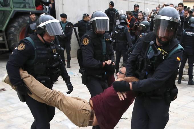 Dia do referendo da independência na Catalunha