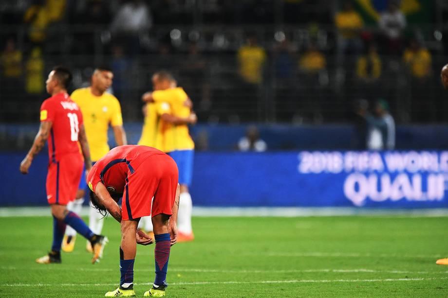 CHILE - Valdivia  -  Partida entre Brasil e Chile, válida pela 18ª rodada (última) das Eliminatórias Sul-Americanas da Copa de 2018 (Rússia) no Allianz Parque, em São Paulo (SP) - 10/10/2017