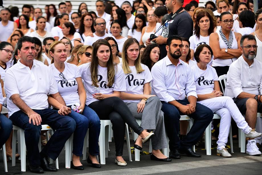 Culto ecumênico em homenagem às vítimas de tragédia em escola  Goyases, em Goiânia - 24/10/2017