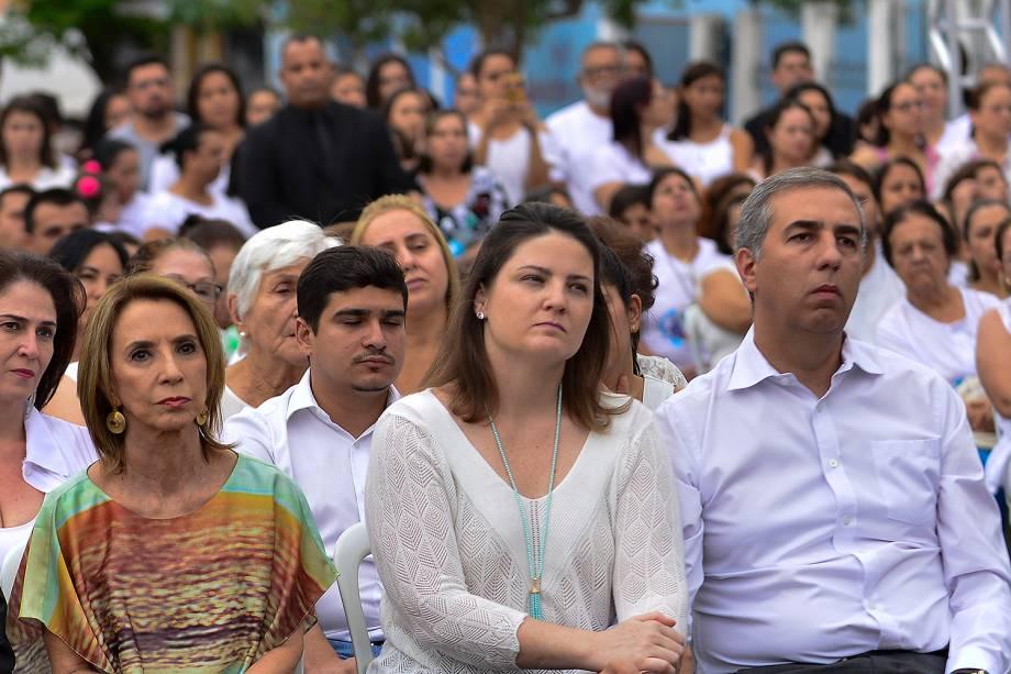 Presença do vice-governador do Estado de Goiás José Éliton - Culto ecumênico em homenagem às vítimas de tragédia em escola  Goyases, em Goiânia - 24/10/2017