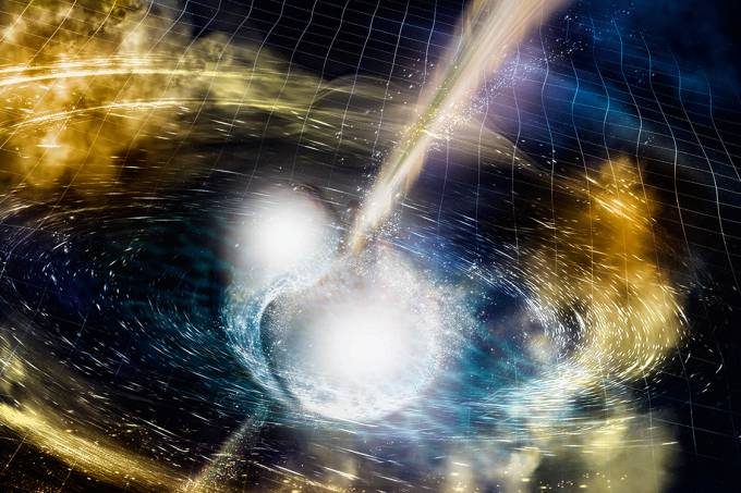 Clarão escuro – O choque entre as estrelas: o que teria ocorrido depois? Uma teoria é que um buraco negro se formou