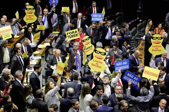 Votação da denúncia contra Michel Temer na Câmara dos deputados
