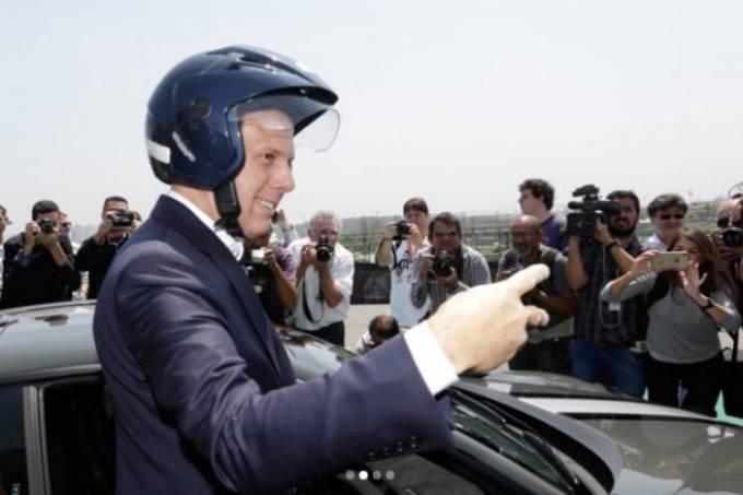 Prefeito João Doria em visita o autódromo de Interlagos