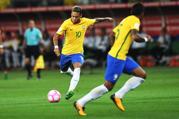 Neymar, do Brasil, em partida contra o Chile
