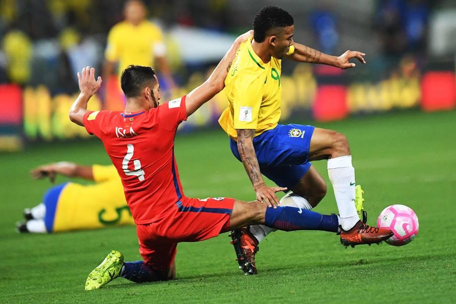 Gabriel Jesus durante jogo Brasil e Chile na Arena Allianz Parque, na zona Oeste da capital paulista - 10/10/2017