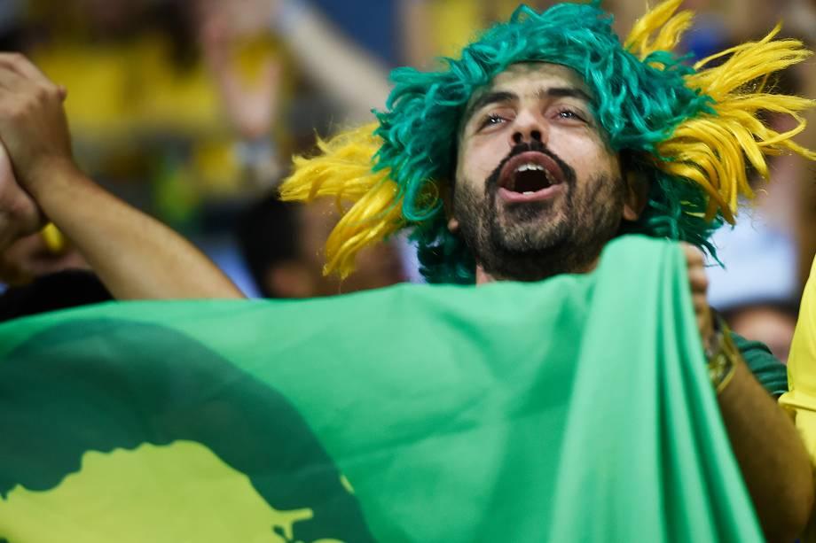 Torcida durante a partida entre Brasil e Chile, válida pela Eliminatória da Copa do Mundo da Russia 2018, no Estádio Arena Allianz Parque em São Paulo (SP) - 10/10/2017