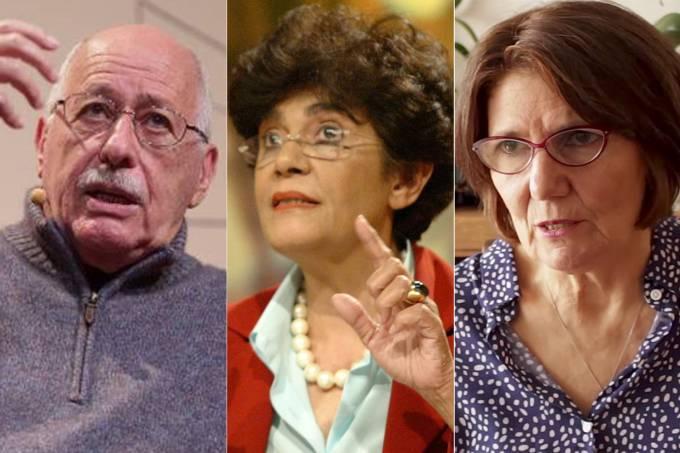 Silviano Santiago, Marilena Chauí e Eva Furnari