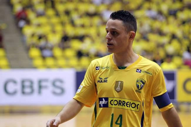 Rodrigo Hardy, capitão da seleção brasileira de futsal