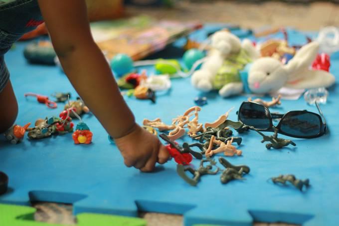 Feira de Trocas de Brinquedos no Museu da Casa Brasileira, em São Paulo