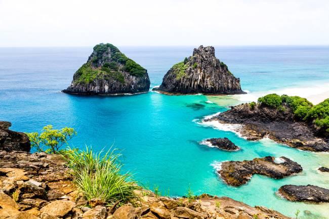 Ilha Dois Irmãos, no arquipélago de Fernando de Noronha