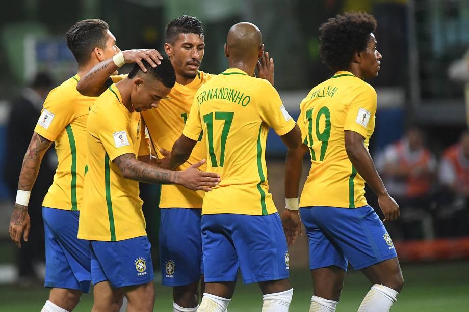 Com dois de Gabriel Jesus, Brasil vence no Allianz Parque e tira Chile da Copa 2018 - 10/10/2017