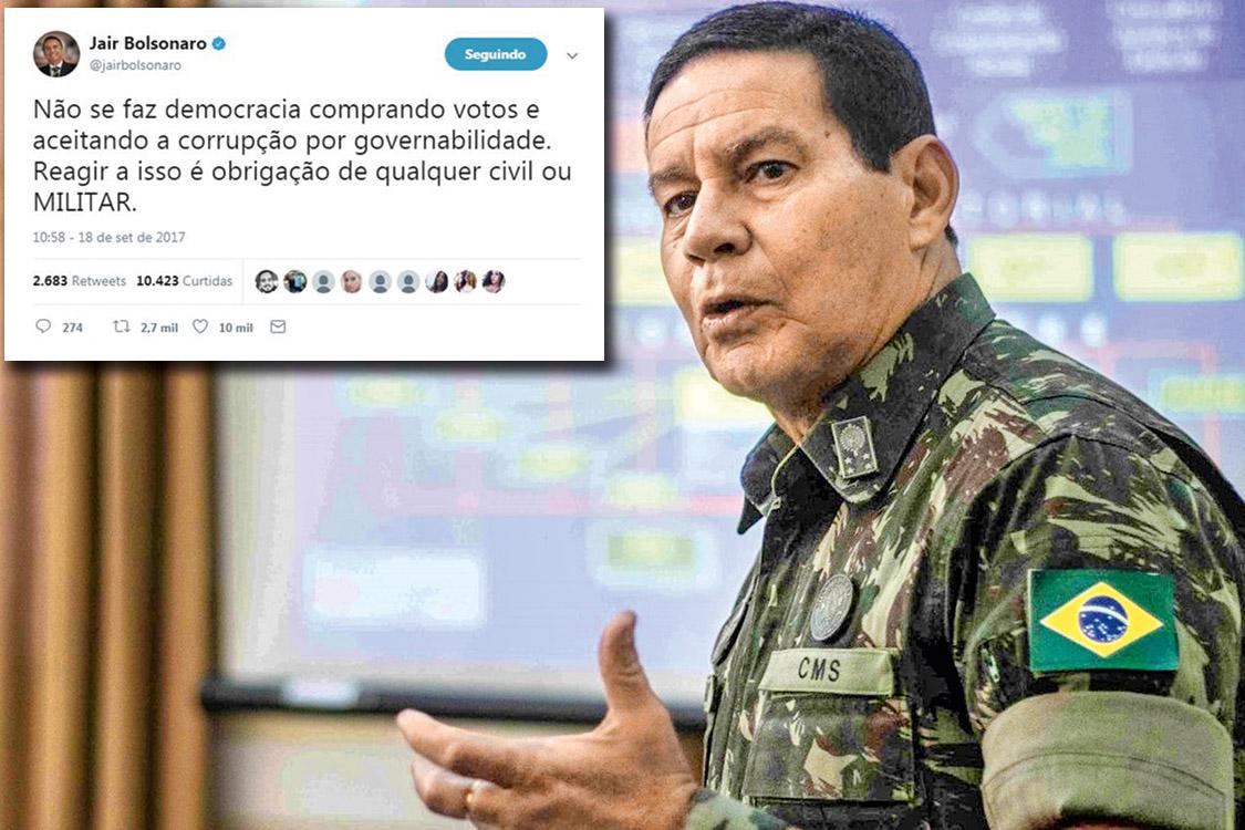 General de Exército Antônio Hamilton Martins Mourão Crédito: Divulgação/FS 2015