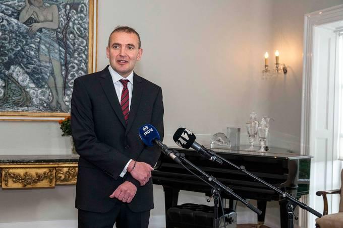 O presidente islandês,  Guðni Jóhannesson