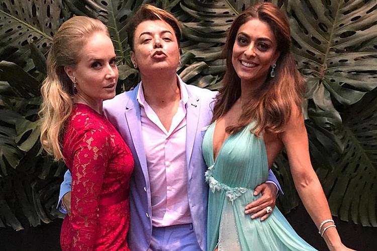 Angélica, David Brazil e Juliana Paes
