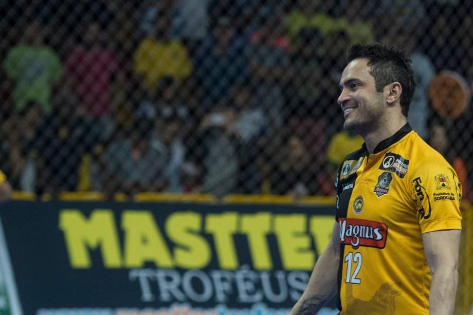 Falcão durante a final da Liga Paulista de Futsal contra o Corinthians