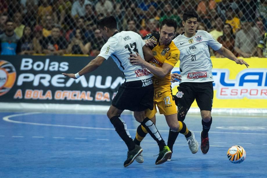 Falcão durante a partida final entre Sorocaba e Corinthians valendo o título da Liga Paulista de Futsal, na Arena Sorocaba, em São Paulo
