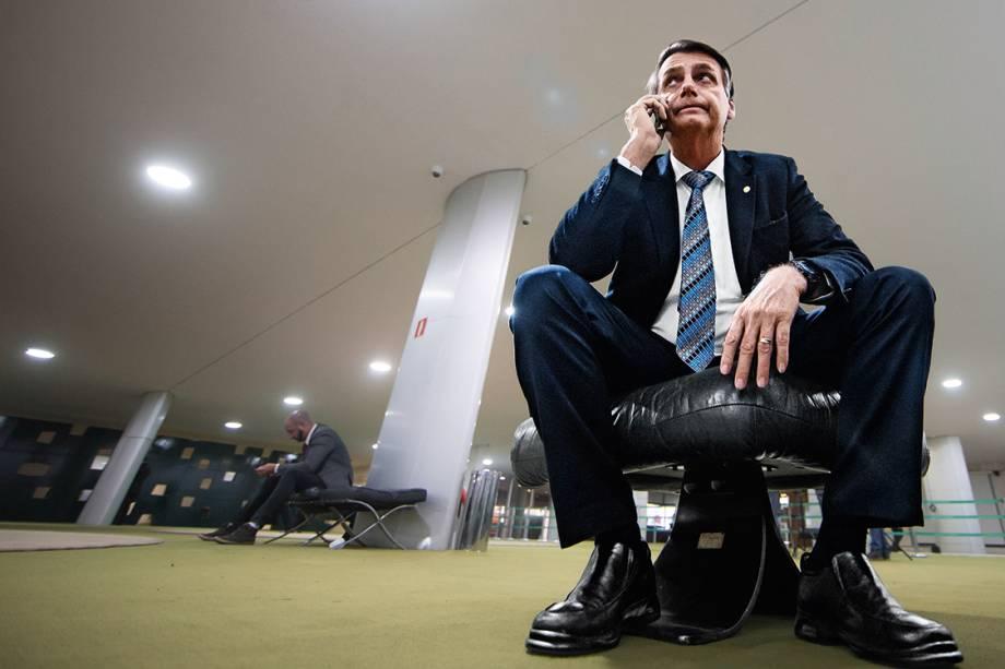 Ensaio com o deputado Jair Bolsonaro na Câmara dos Deputados em Brasilia (DF) - 2017