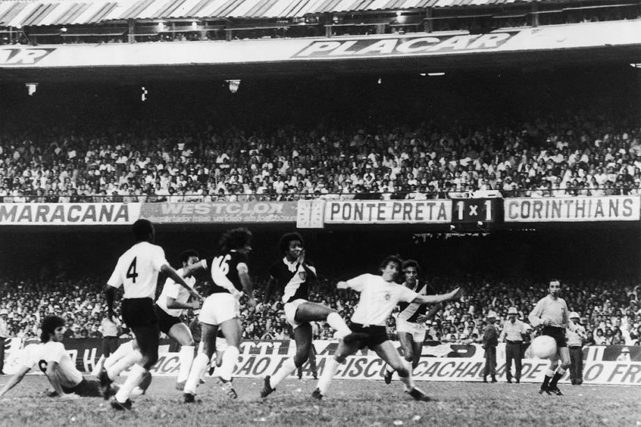 Jogo do Corinthians contra a Ponte Preta, pelo Campeonato Paulista de 1977