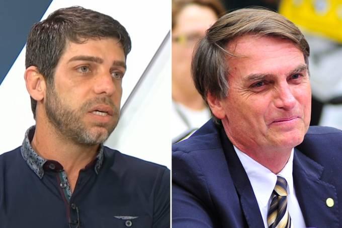 Juninho Pernambucano e Jair Bolsonaro
