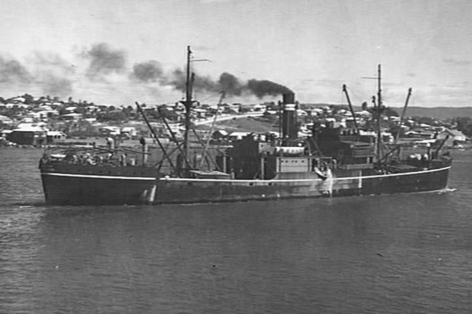 Navio australiano Macumba, afundado na Segunda Guerra Mundial
