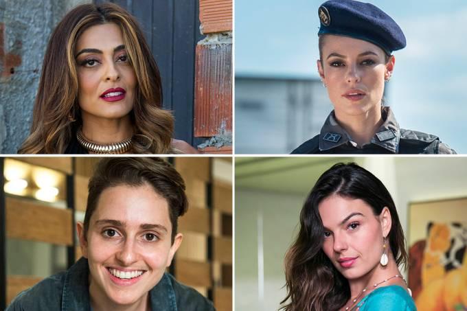 As atrizes Juliana Paes, Paola Oliveira, Carol Duarte e Ísis Valverde