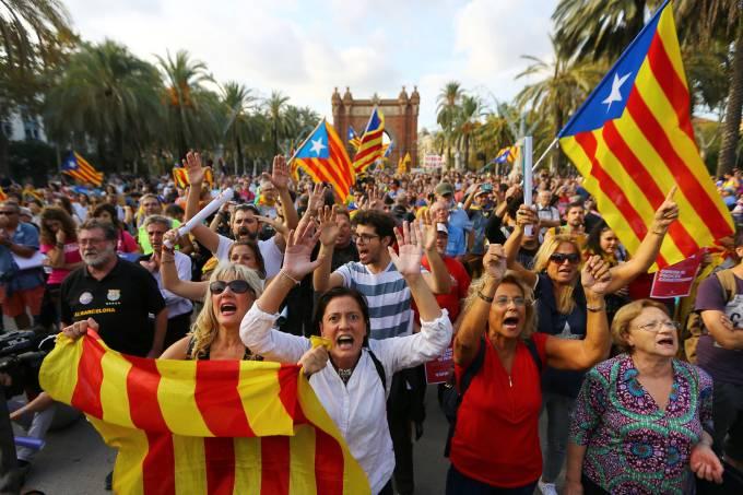 Manifestações pela independência da Catalunha