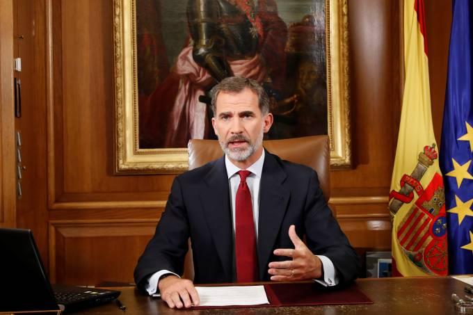 Pronunciamento rei Felipe da Espanha