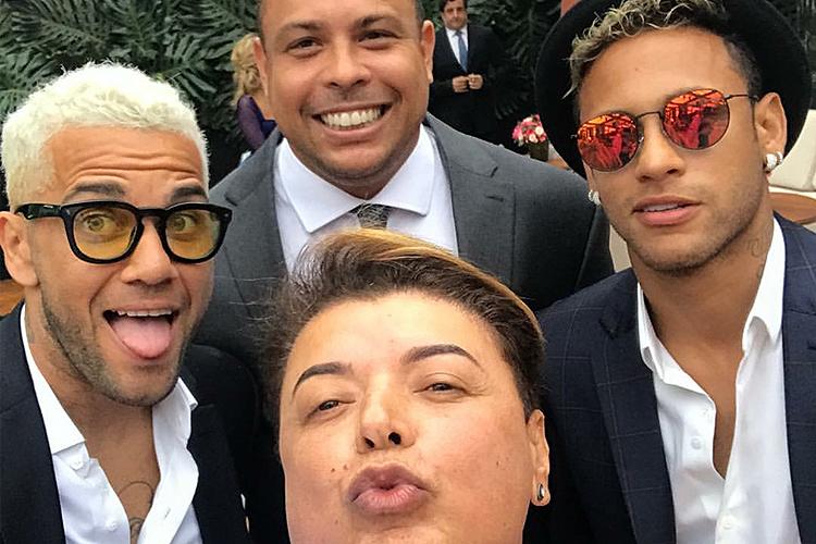 David Brazil do Neymar, David Brazil, Ronaldo e Dani Alves