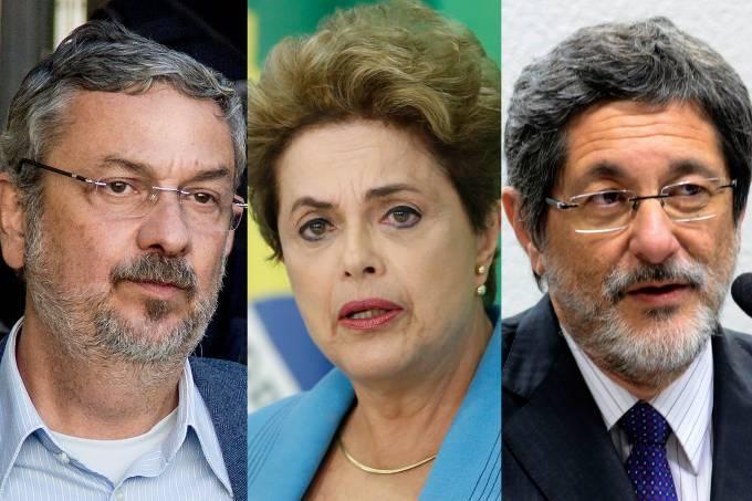 Antônio Palocci, Dilma Roussef e José Gabrielli