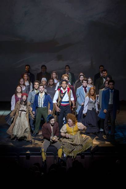 O elenco do musical Les Misérables