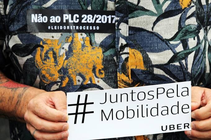 PL 28/2017 – Protesto de motoristas de aplicativos, como Uber e Cabify