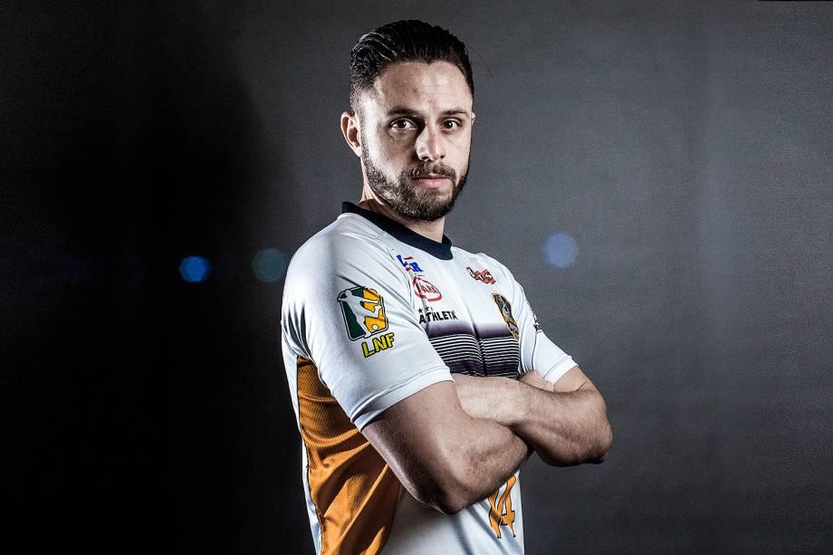 Rodrigo, fixo e capitão do Sorocaba e da seleção brasileira de futsal