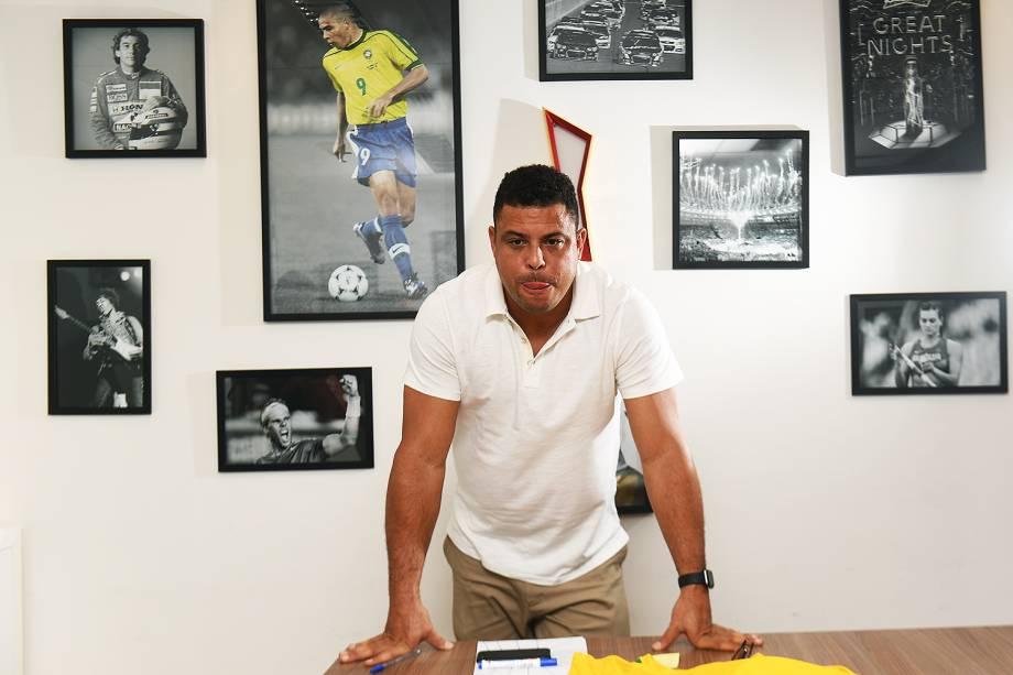 Ronaldo Luís Nazário de Lima, conhecido como Ronaldo Fenômeno em entrevista ao site de VEJA
