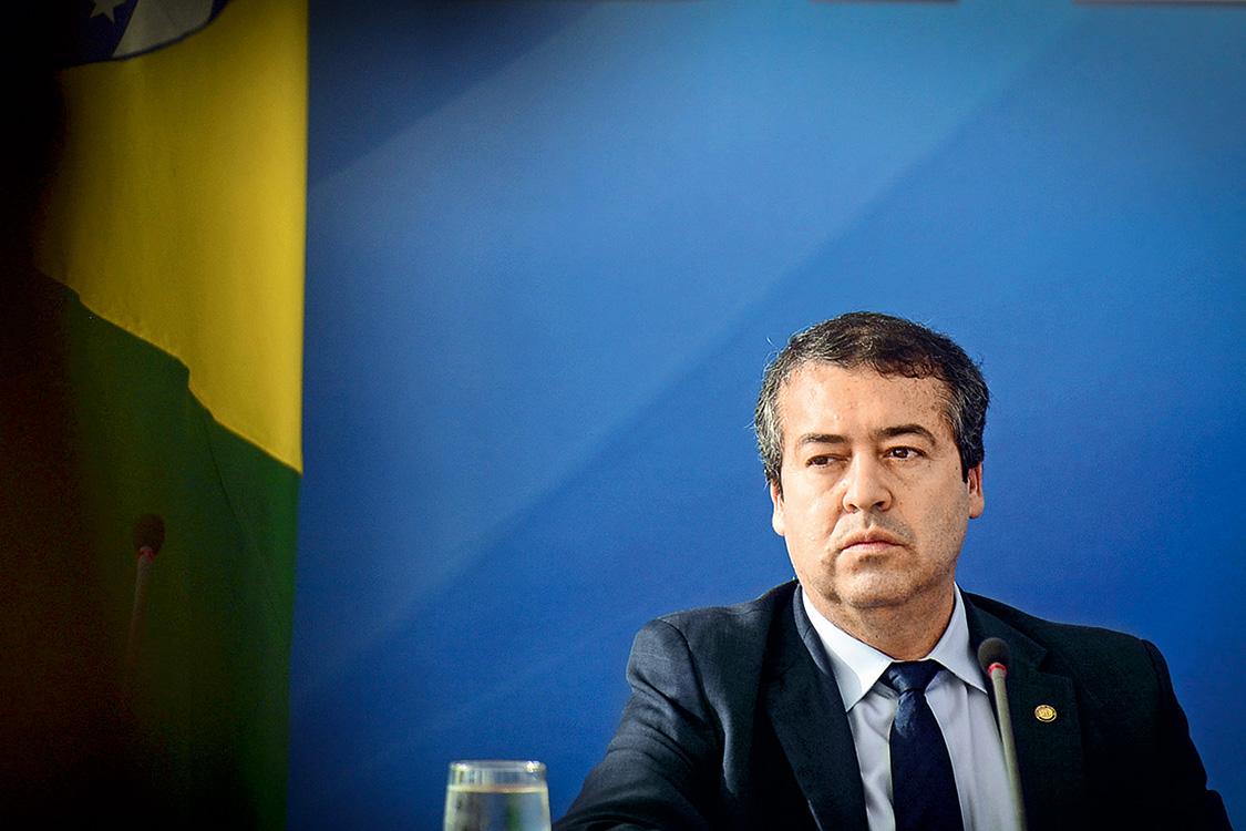 Ministro Ronaldo Nogueira durante cerimônia do anúncio de distribuição de resultados do FGTS, no Palácio do Planalto, em Brasília, DF, 10-08-2017 Foto: Edu Andrade - ASCOM/Ministério do Trabalho
