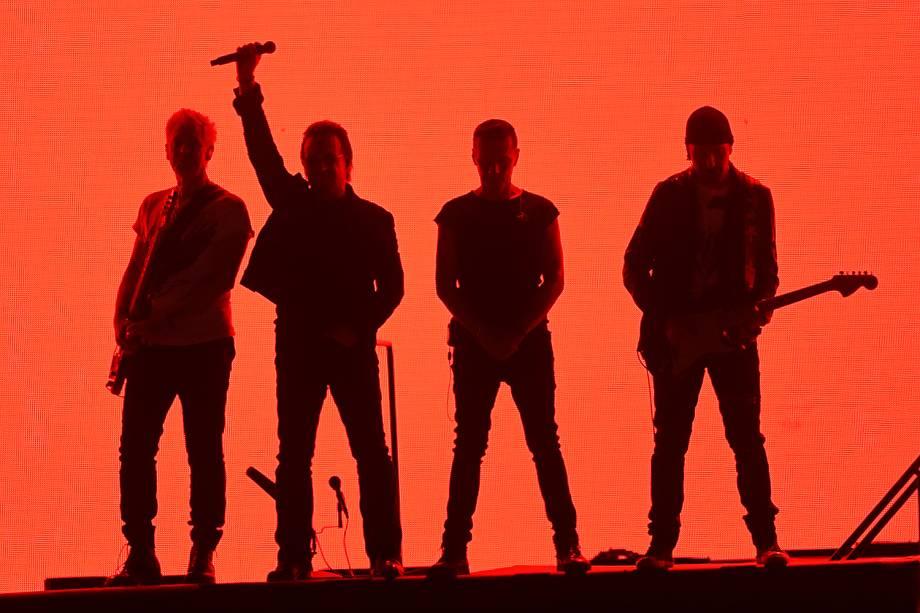 """Show da banda irlandesa U2 em comemoração aos 30 anos do lançamento do CD """"The Joshua Tree"""", no Estádio do Morumbi, em São Paulo (SP) - 19/10/2017"""